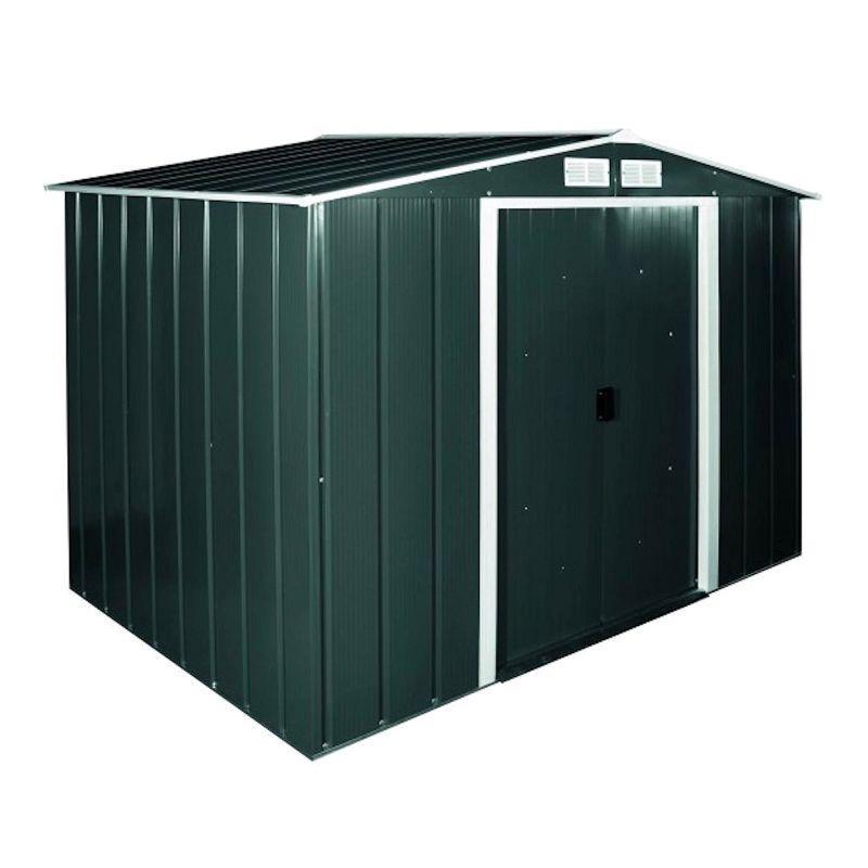 Сарай металлический ECO 262x241x191 см зеленый с белым