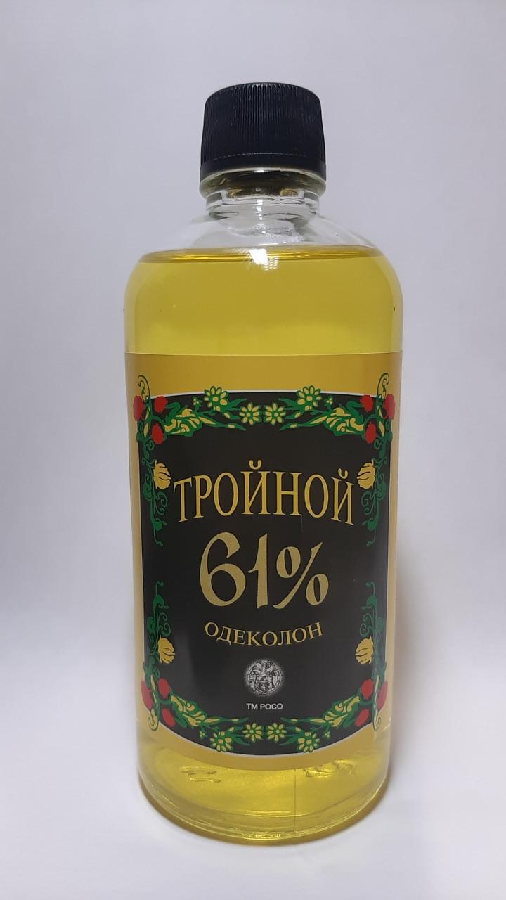 """Одеколон """"Потрійний 61%"""" 180 мл ТМ РОСО"""