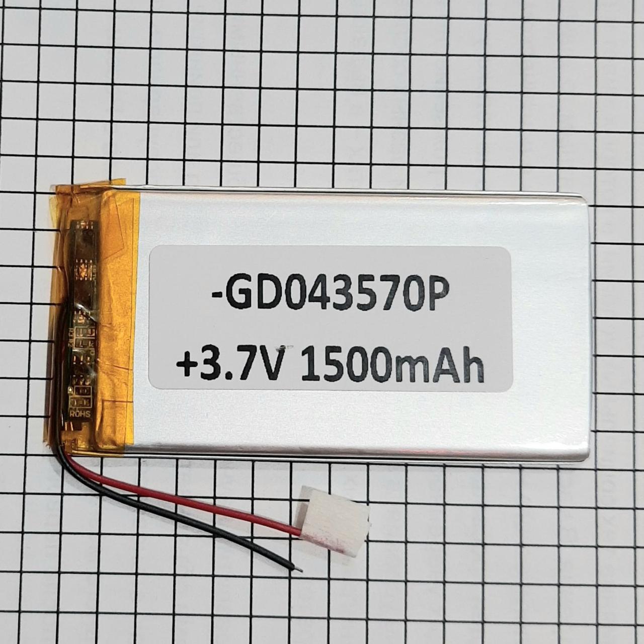 Литий полимерный аккумулятор 043570 1500mah