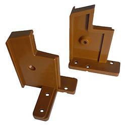 З'єднувач алюмінієвого порогу 60 мм (комплект: правий+лівий) Золотий дуб