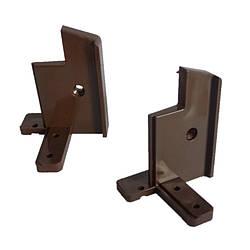 З'єднувач алюмінієвого порогу 60 мм (комплект: правий+лівий) Махагон