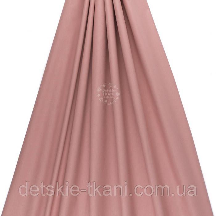 Поплин однотонный, цвет сухого шиповника (№3540)