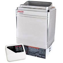 Keya Sauna Электрокаменка Amazon AM90MI-C 9 кВт с выносным пультом CON4 (нержавеющая сталь AISI 430)