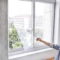 Москитная сетка на окно c самоклеящейся крепежной лентой 130 х 150 см