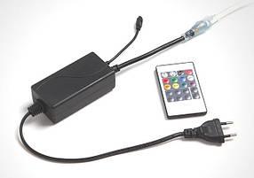 Контроллер для LED RGB ленты 220V 4Pin SL-750 IR пульт Код.59803