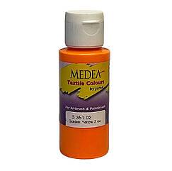 Краска текстильная Medea 335102 Golden Yellow Fluo, желтая золотистая флюоресцентная, 60 мл