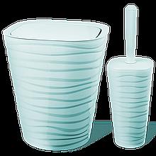 Набор для ванной комнаты Planet Welle 2 предмета серо-голубой
