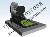 Гранитные памятники в Симферополе и Крыму (ангел сердце букинский гранит), фото 1