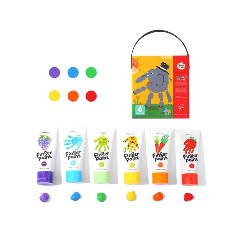 Набор пальчиковых красок 6 штук Jar Melo. Пальчиковое рисование