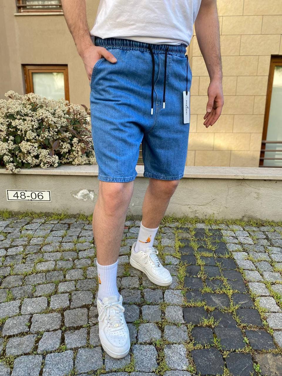 Чоловічі джинсові шорти синього кольору