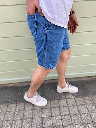 Чоловічі джинсові шорти синього кольору, фото 2