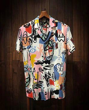 Чоловіча легенька сорочка кольорова, фото 2