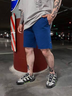Мужские трикотажные шорты синего цвета, фото 2