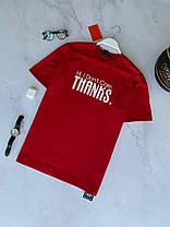 Мужская футболка oversize красного цвета с принтом, фото 2