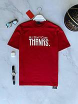 Мужская футболка oversize красного цвета с принтом, фото 3