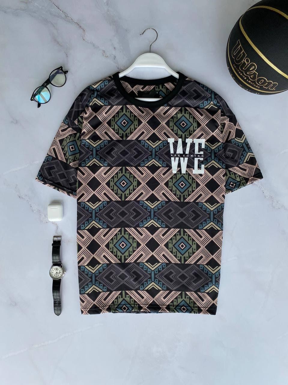 Мужская футболка oversize серого цвета