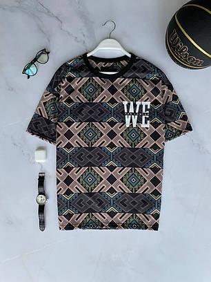 Мужская футболка oversize серого цвета, фото 2