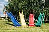 Дитяча гірка 2,2 м з металевою драбиною висота 1,2 м (різні кольори)
