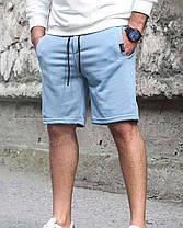 Чоловічі трикотажні шорти білого кольору, фото 3