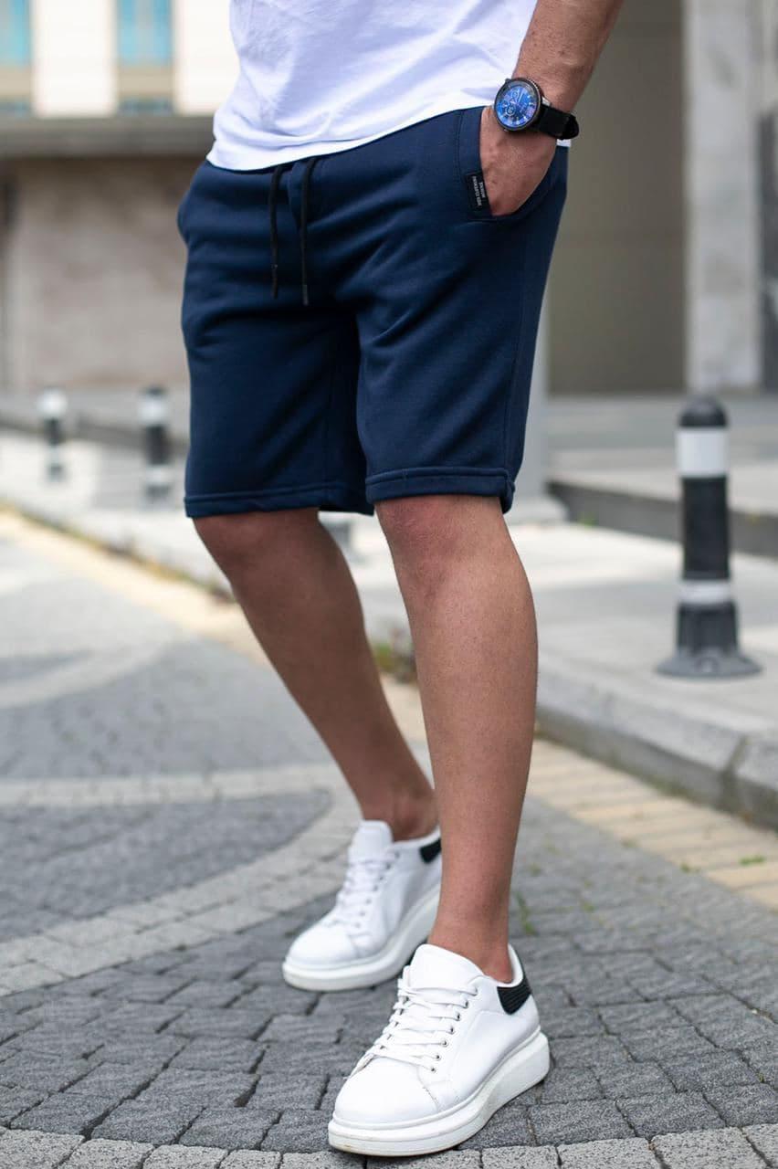 Мужские трикотажные шорты синего цвета