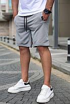 Мужские трикотажные шорты цвета хаки, фото 3