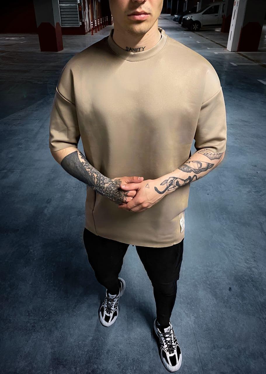 Чоловіча базова футболка коричневого кольору