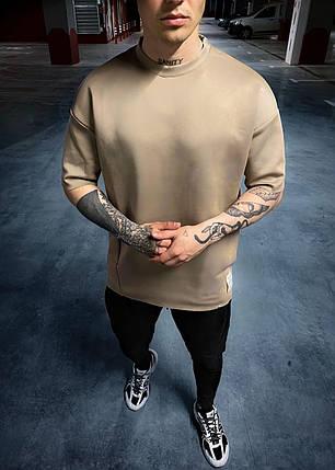 Чоловіча базова футболка коричневого кольору, фото 2