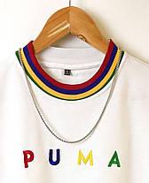 Мужская футболка oversize Пума белого цвета, фото 3