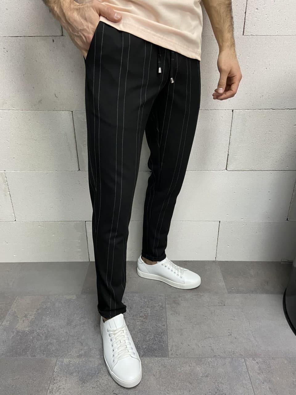 Штани чоловічі звужені чорного кольору