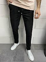 Штани чоловічі звужені чорного кольору, фото 2