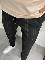 Штани чоловічі звужені чорного кольору, фото 3