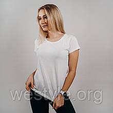 Футболка хлопковая мягкая средней плотности - 61414-30 белая