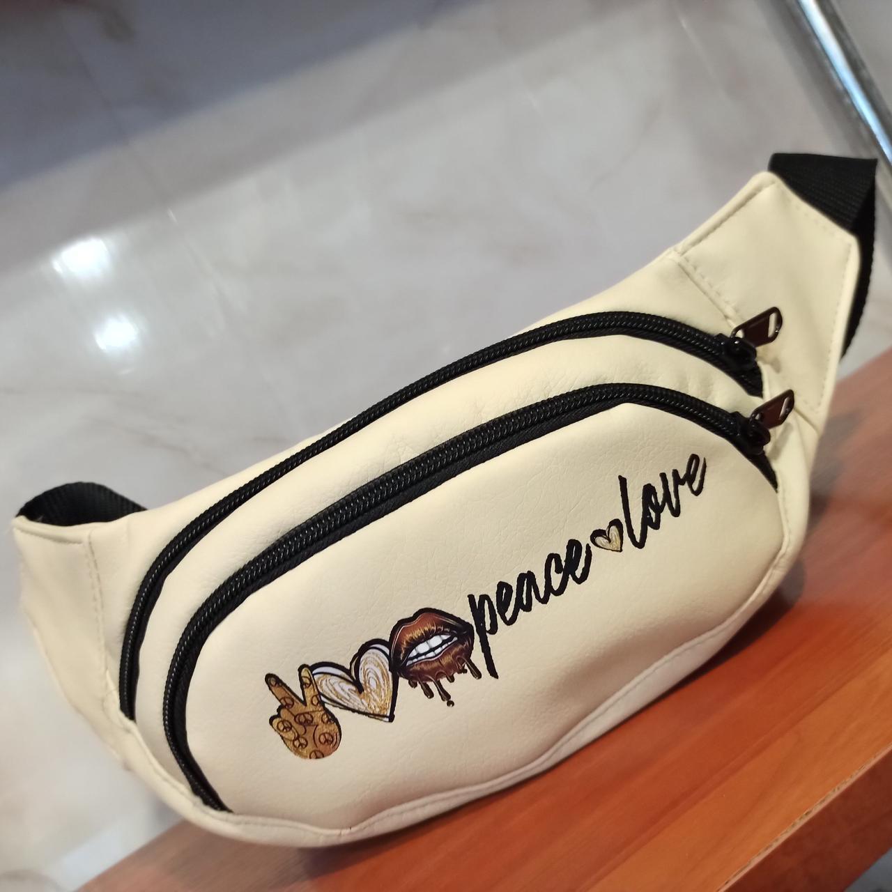 Поясная - сумка / бананка из качественной PU кожи (36*11) см Модель 82-6