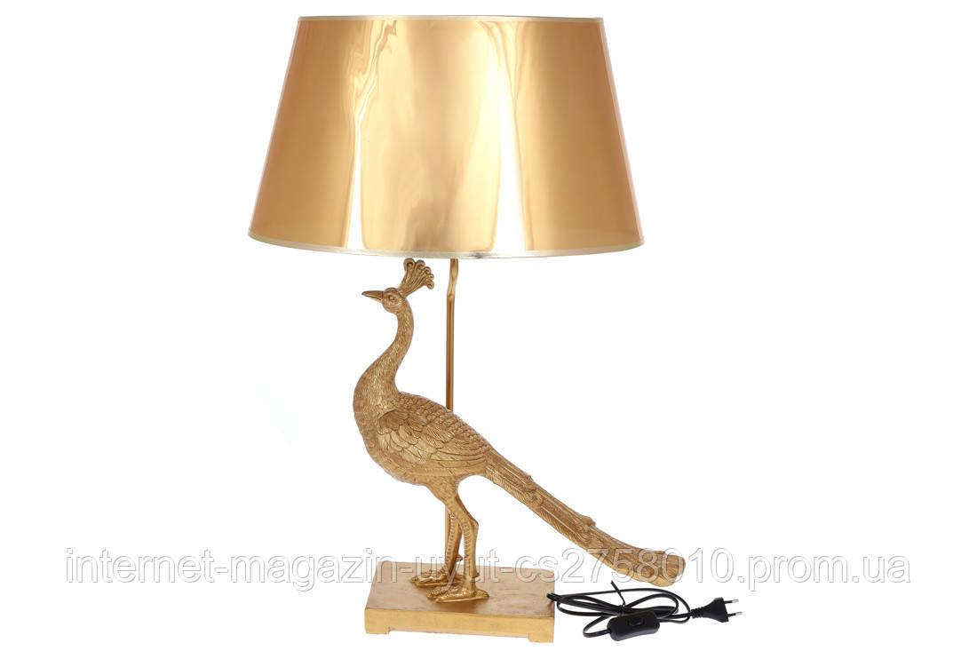Лампа настольная Золотой Павлин 62см, цвет - золото