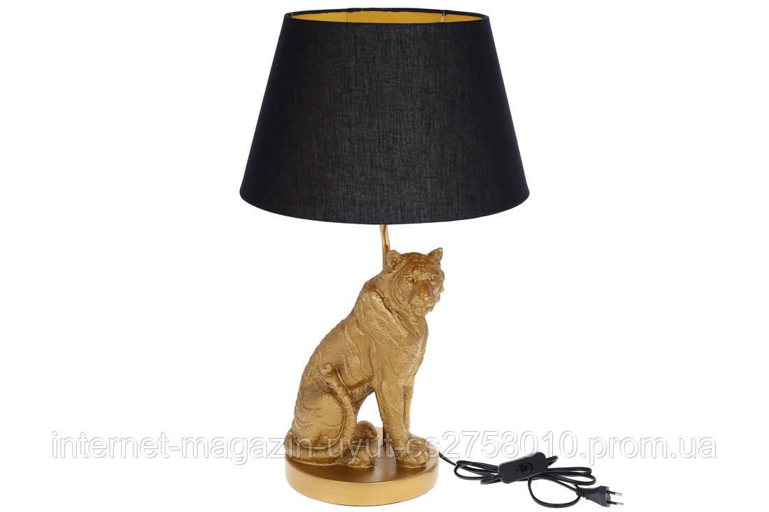 Лампа настольная Золотой Тигр 59см, цвет - золото с черным