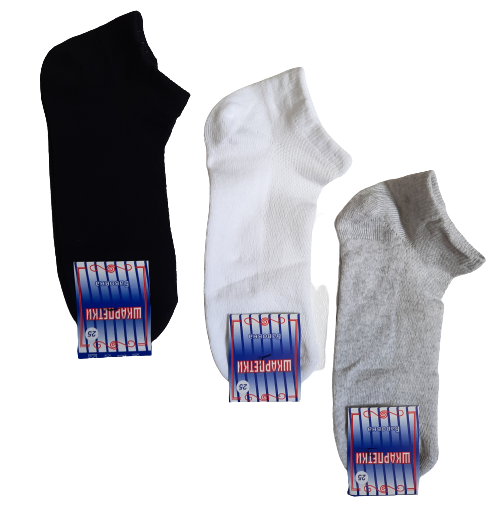 Шкарпетки чоловічі укорочені вставка сіточка р. 25 бавовна стрейч Україна. Від 12 пар по 6,50 грн.