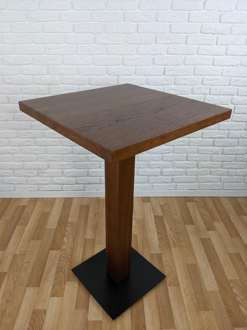 """Дерев'яний високий столик """"UNO-4"""" для кафе"""