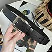 Ремінь з натуральної шкіри класичний унісекс чоловічий жіночий, фото 2