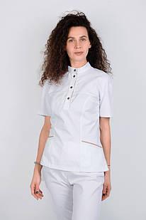 Медичний топ блуза жіноча біла