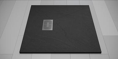 Піддон для душу Weston 100х100х32 графіт литий мармур