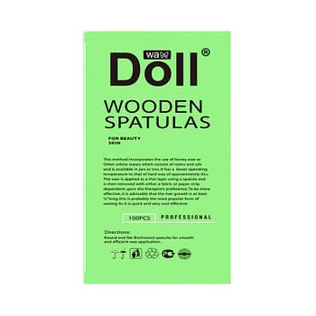 Палочка-шпатель Doll Wax YZ005 100 шт. для депиляции