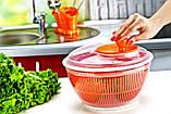 Сушилка для салата и зелени 4,75 л розовая, фото 2