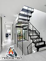 П-образна металеві сходи відкритого типу, фото 1