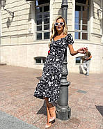 Платье женское длиною миди с красивым декольте, фото 4