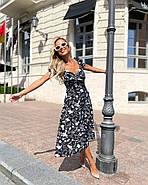 Платье женское длиною миди с красивым декольте, фото 5