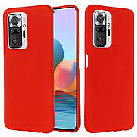 Чехол Silicone Case full для Xiaomi Redmi Note 10 Pro Red