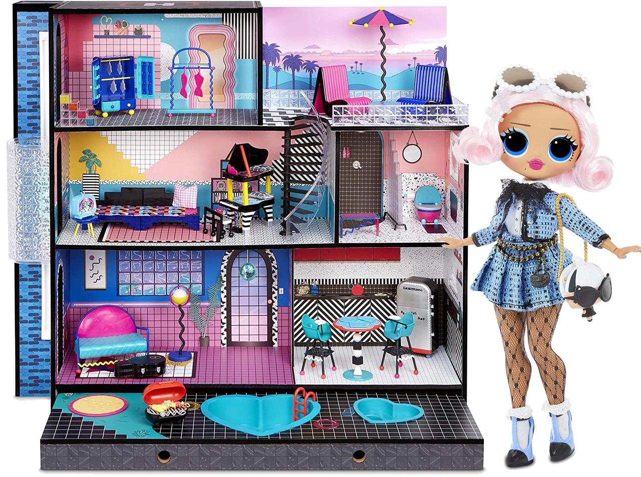 Домик для кукол ЛОЛ Оригинал L.O.L. Surprise OMG House с бассейном и куклой ЛОЛ Сюрприз ОМГ Uptown Girl 577270