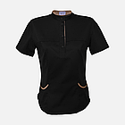 Медичний топ блуза жіноча чорна, фото 2