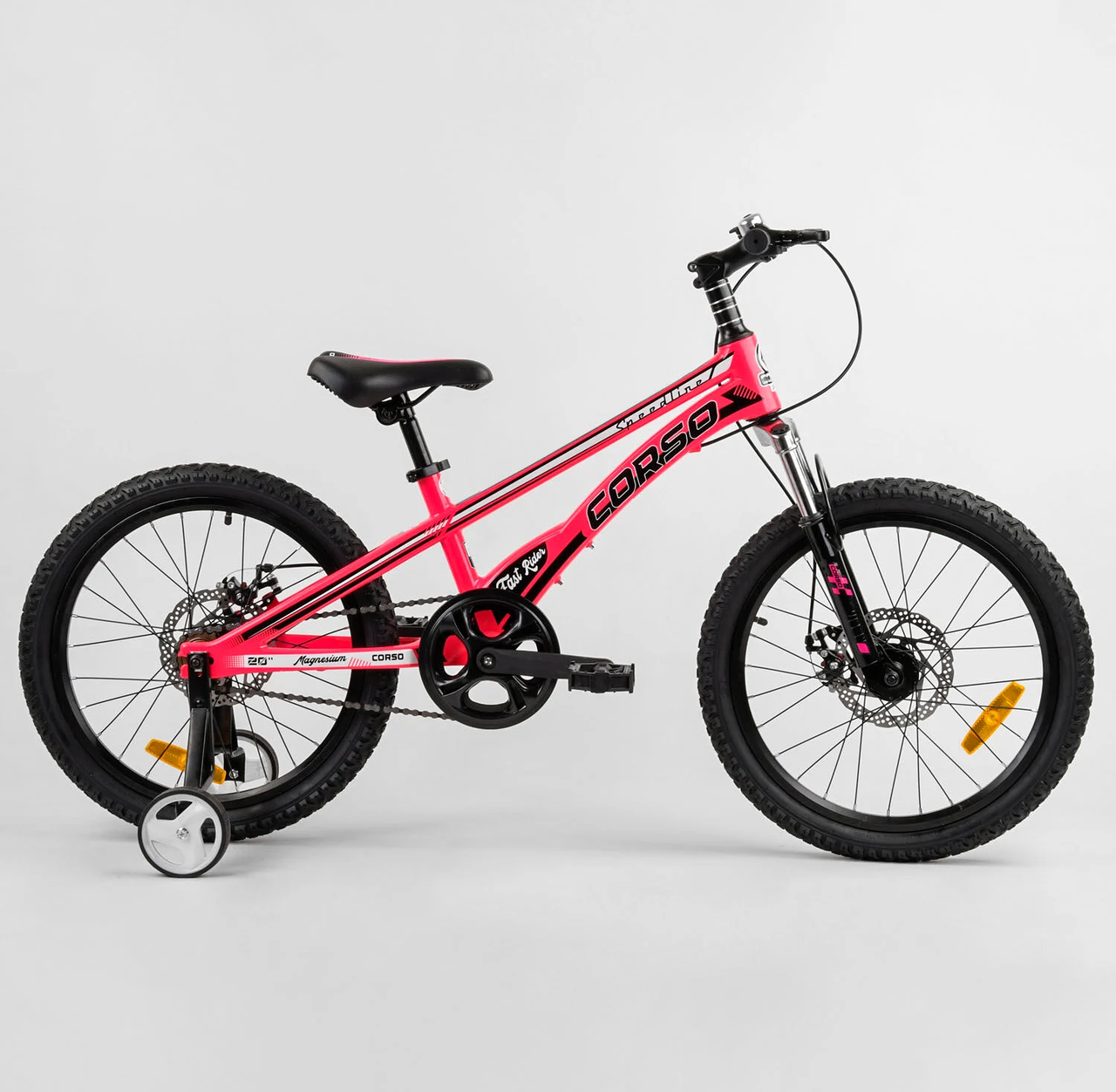 """Детский велосипед 20"""" Corso магниевый «Speedline» MG-90363 розовый"""