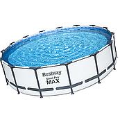 Каркасний басейн Steel Pro Max 56488 (457 х 107 см) з картриджних фільтрів, сходами і тентом